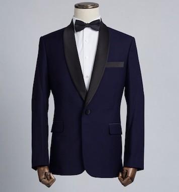 tuxedo mariage revers satin