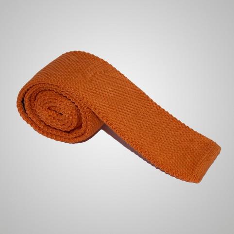 Cravate en laine Orange