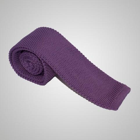 Cravate en laine Violette