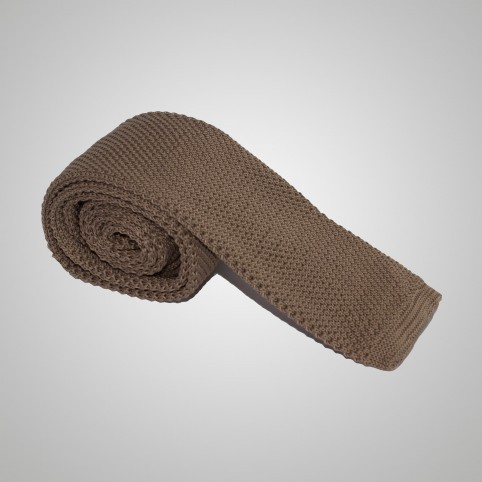Cravate Tressée marron clair