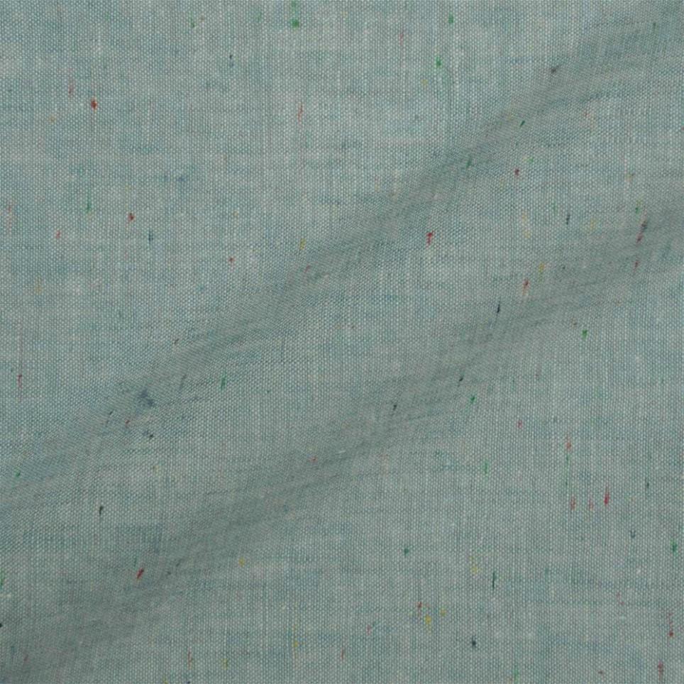 Veste sur mesure - Tissu Lin Bleu Tacheté