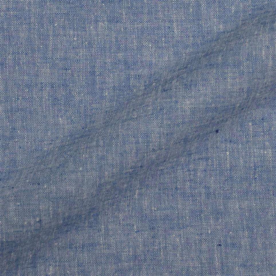 Veste sur mesure - Tissu Lin Bleu Barbeau