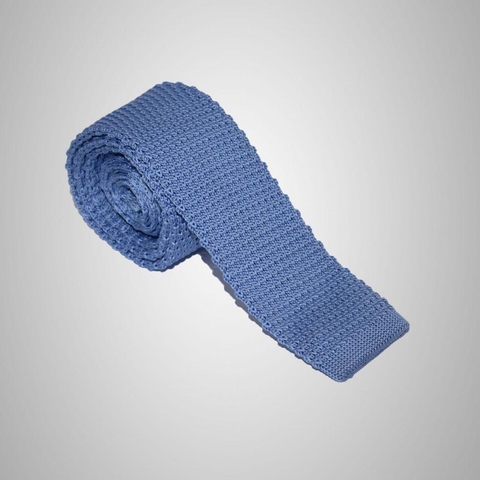 Cravate en laine Bleu Ciel