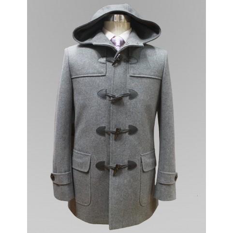 Manteau Gris à capuche