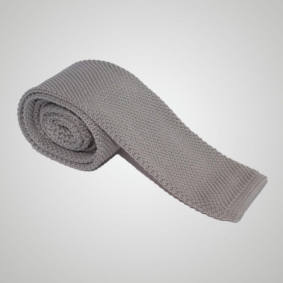 Cravate en laine Grise