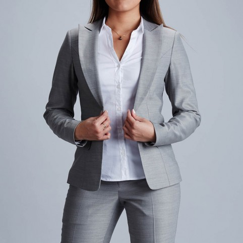 Tailor made women suit grey perle