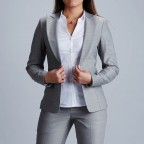 Women Suit Gris Perle