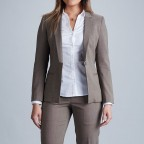 custom women suit brown
