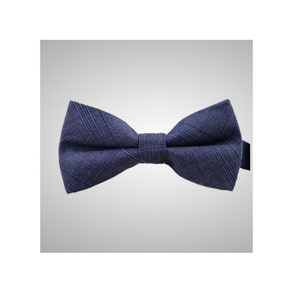 Blue Pattern Bow Tie