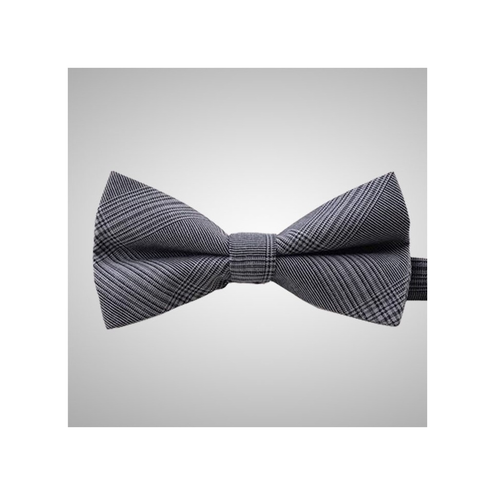 Grey Prince of Wales Bow Tie
