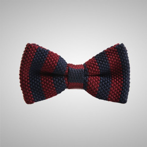 Striped Grey Bow Tie