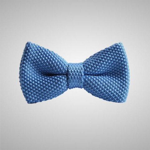 Noeud Papillon Tricot Bleu Ciel