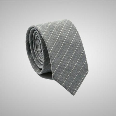 Cravate Slim Gris Rayé