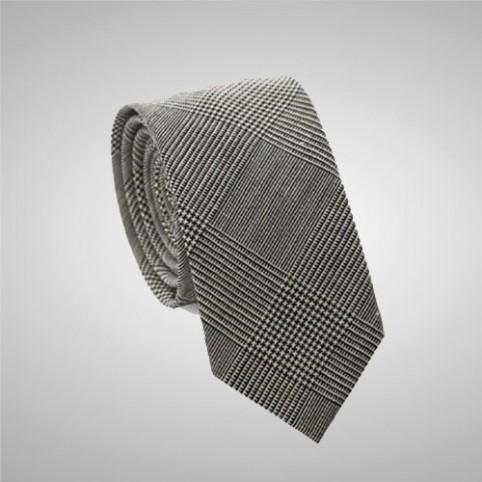 Cravate Slim Gris Prince de Galles