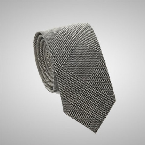 Prince of Wales Grey Slim Tie