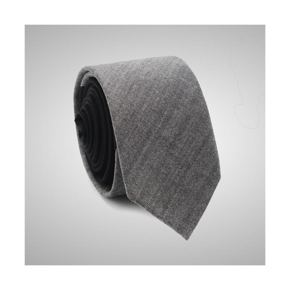 Cravate Slim Bicolore Gris Noire