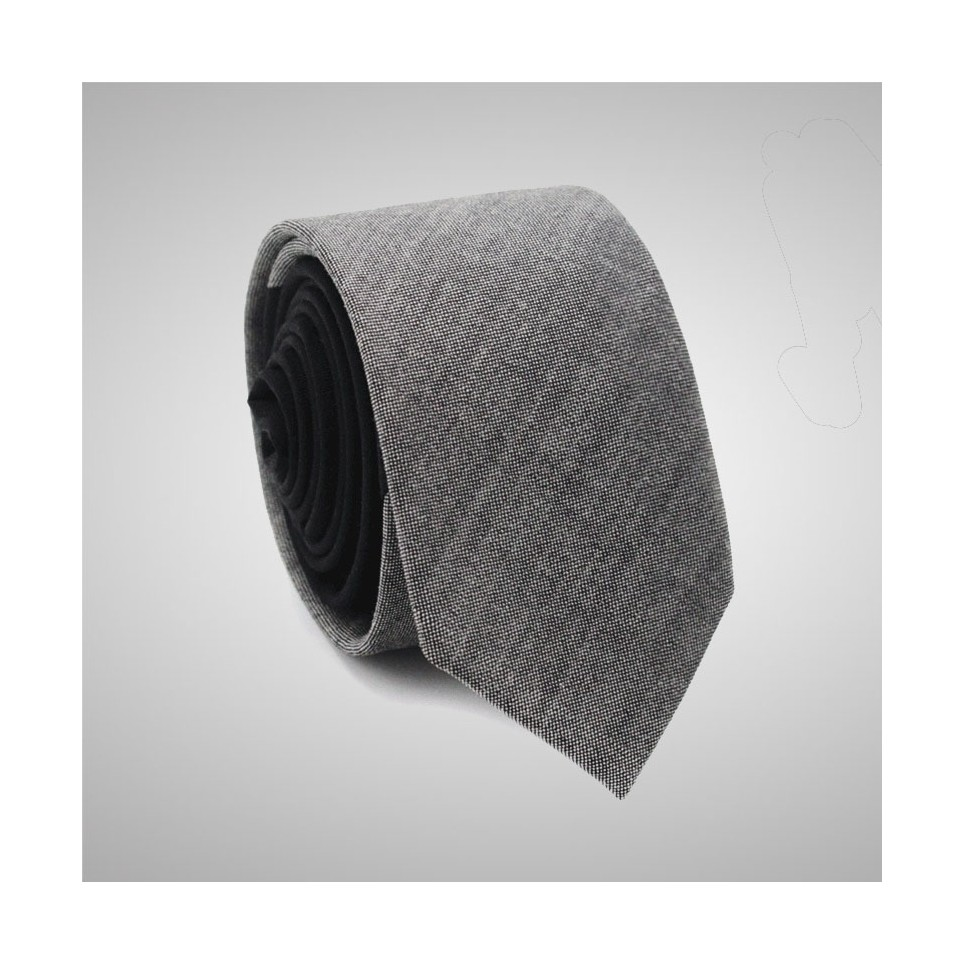 Two Coloured Grey/Black Slim Tie