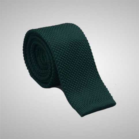 Bottle Green Knit Tie