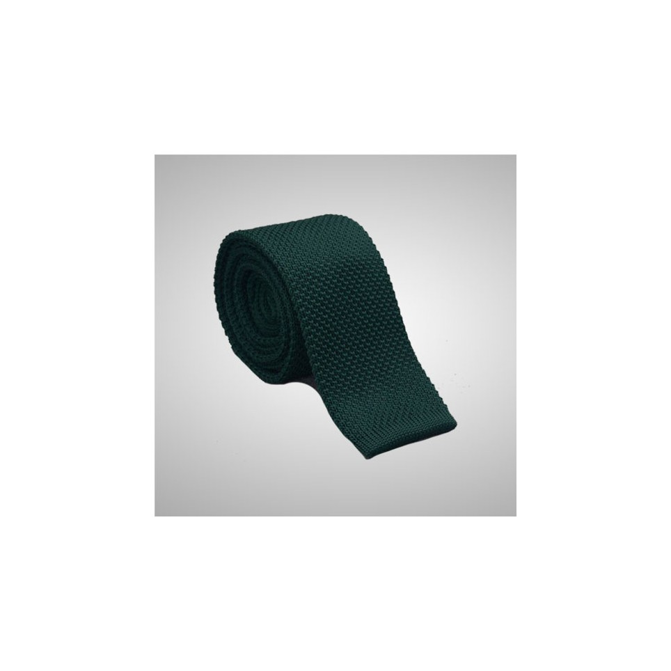 Cravate tricot Vert Bouteille