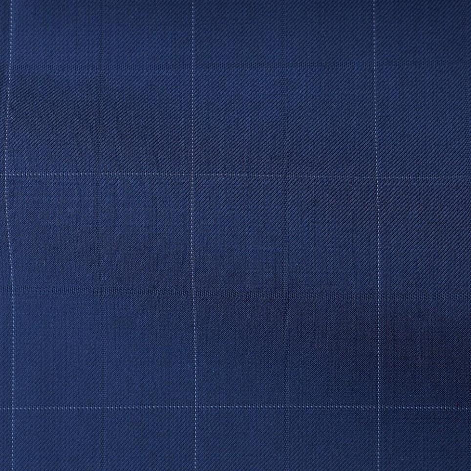 Blue Windowpane Suit