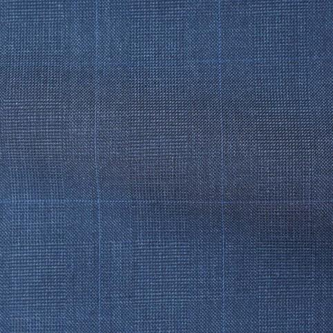 Costume sur-mesure charcoal carreaux bleus