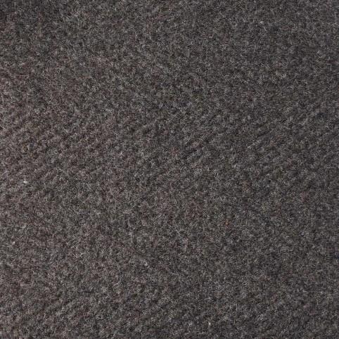 Manteau Cachemire Tissu Marron à chevrons