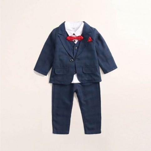 Costume bébé bleu nuit