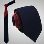 Slim Two Coloured Bordeaux Tie