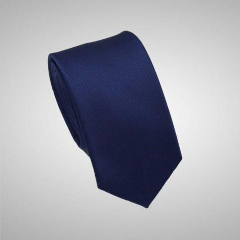 Cravate Unie Bleu Nuit