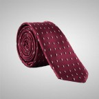 Burgundy Tie with pattern