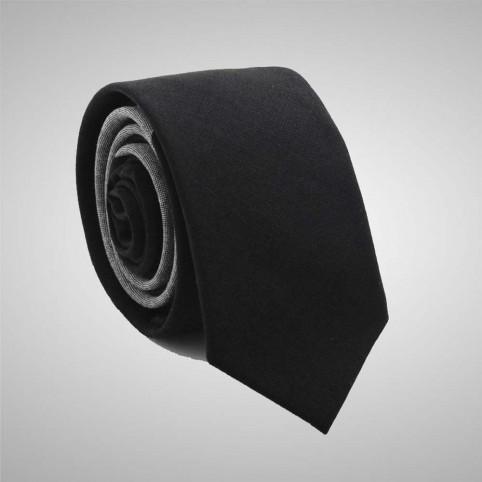 Cravate Slim Bicolore Gris Noire 2