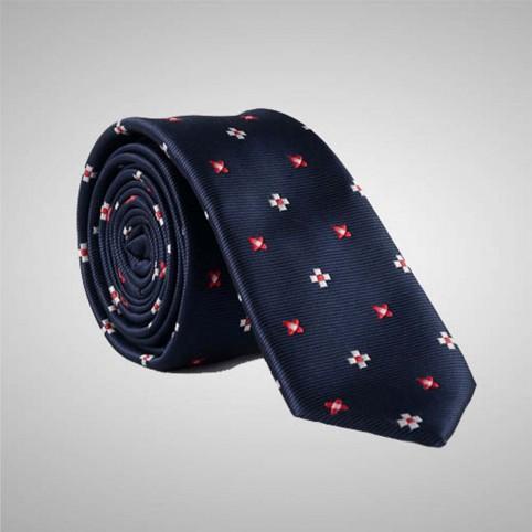 Cravate Bleu Nuit à motifs