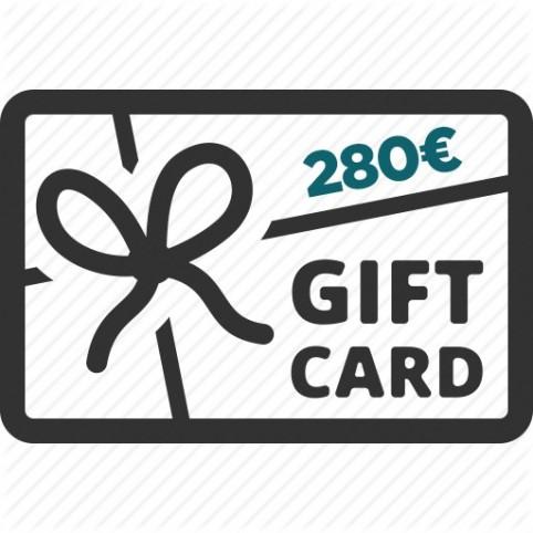 Carte Cadeau 280€