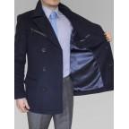 Manteau cachemire sur mesure homme Bleu