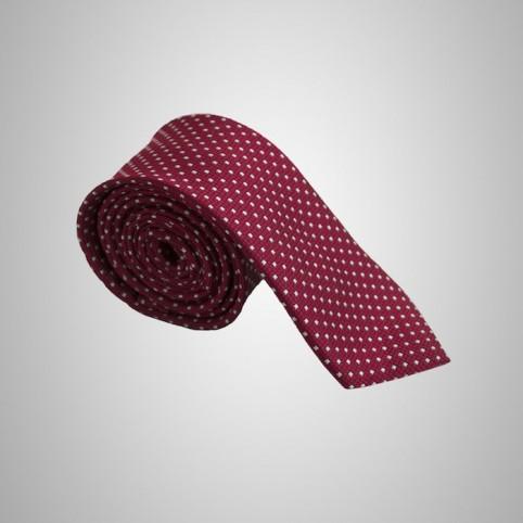 Cravate Rouge à poids blancs