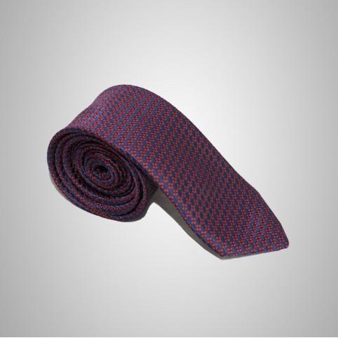 Cravate Rouge et bleu soie homme pas cher
