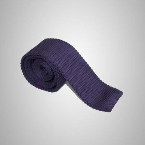 Cravate tricot pourpre