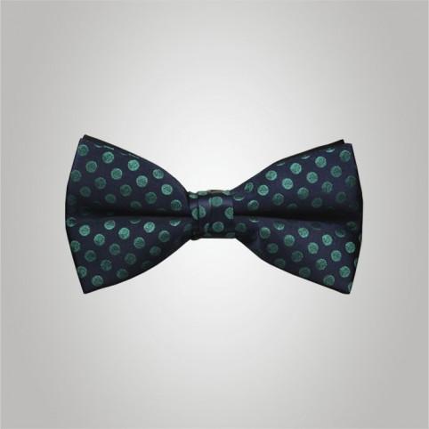 Noeud Papillon bleu coccinelle