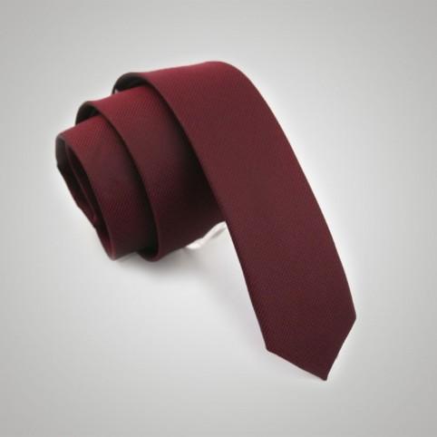 Cravate soie slim brique