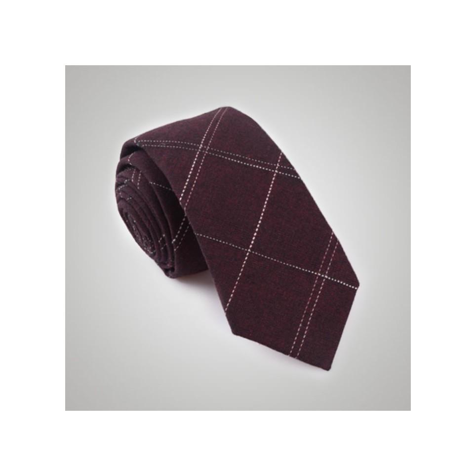 Cravate carreaux rouge