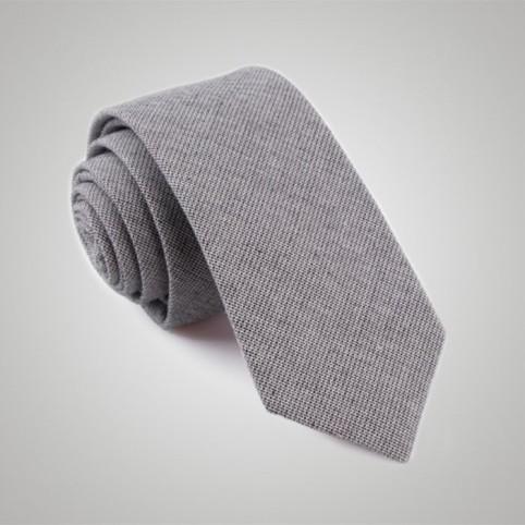 Cravate Laine Jean Grise