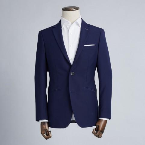 Costume sur-mesure : Uni Bleu