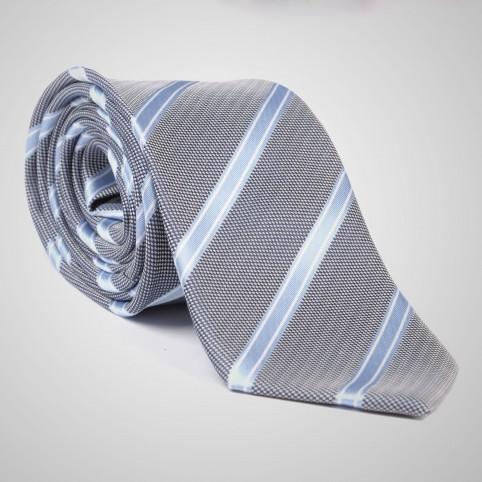 Cravate Gris Rayé