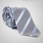 Striped Grey Tie