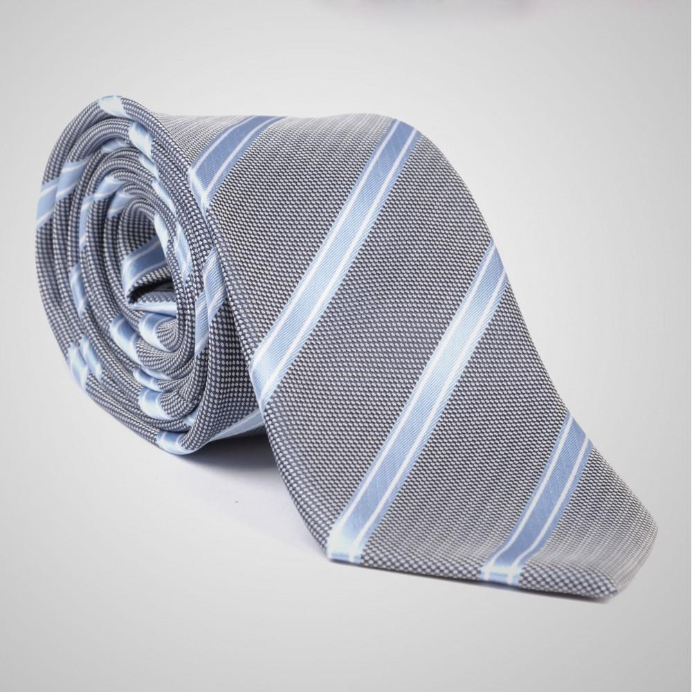4d27c6f2e6619 Cravate Gris Rayé à porter avec costume