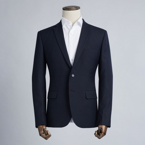 Costume sur-mesure Bleu Navy Rayé