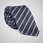 Thin Striped Blue Tie
