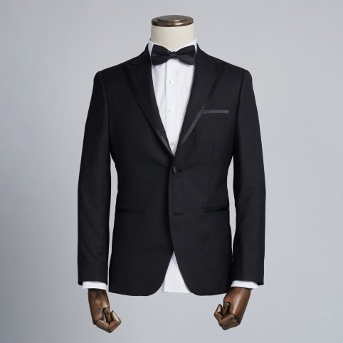 Tuxedo noir col cranté avec liseret