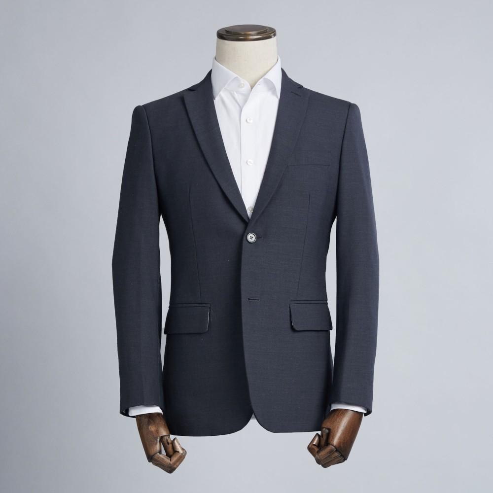 Costume sur mesure gris fil fil tendance bleut 100 laine homme - Costume gris fonce ...