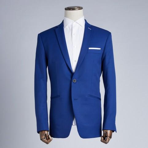 Costume sur-mesure Bleu Électrique